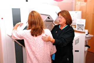 Digital mammography exam